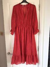 Zara vestido rojo del lunar Té-tamaño L