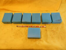 7 pc LOT of BLUE NYLON FLAT STOCK machinable plastic bar 1 1/16 x 2 1/4 x 2 3/4