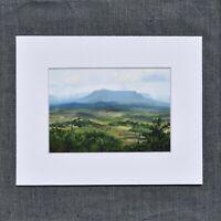 "Ltd Print of House Mountain from Blue Ridge Parkway 5x7"" Lexington VA VMI W&L"