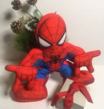 "SPIDERMAN~ 11"" Plush Doll Playskool Heroes Marvel Toy (Electronic ~ Speaking)"