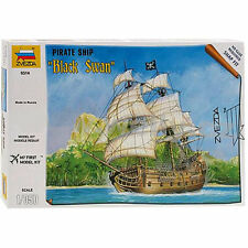 ZVEZDA 6514 Black Swan Pirate Ship 1:350 Snap Fit Model Kit