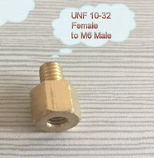 Fitting Metric M6 M6X1 Male to 10-32 UNF Female Brass Pipe Adapter U-ZD8