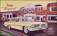 1961 Pontiac Tempest Owners Manual 61 Owner Instruction Guide Book Custom Safari