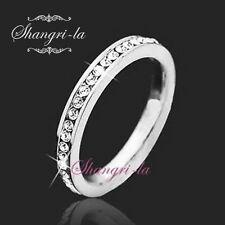 0341 Sz6 9K White GOLD GF Swarovski DIAMOND ANNIVERSARY BAND Engagement RING