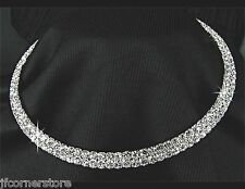 BRIDAL/WEDDING  Crystal/Diamonte Necklace Set *30** absolutely stunning choker