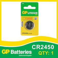 GP Lithium Button Battery CR2450 (DL2450) card of 1 [WATCH & CALCULATOR + OTHER]
