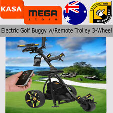 Virtual Electric Powered Golf Buggy W/Far Off Trolley 3-Wheel 36 Holes Power