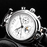 BURAN V.M. Poljot 31679 Chronograph Mondphase Basilika russische Uhr