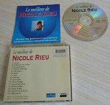 RARE CD ALBUM BEST OF LE MEILLEUR DE NICOLE RIEU 15 TITRES 1994