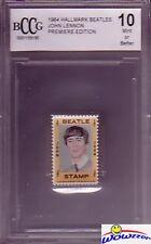 1964 Hallmark BEATLES Stamp John Lennon BECKETT 10 MINT Vintage Rare High Grade!