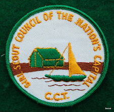 VINTAGE GIRL SCOUT CAMP PATCH - CAMP CHIMNEY TRAIL  - NATION'S CAPITOL COUNCIL
