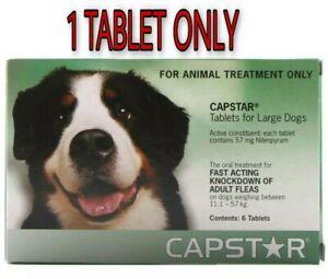Capstar Flea Treatment Tablets Medium and Large Dogs 57mg, 1 TABLET