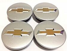 4 pcs, Wheel Emblem Center, Chevy, Sparkly Silver, 59MM, #9594156