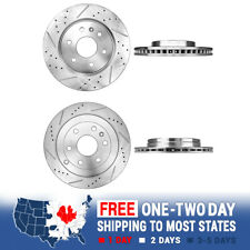 Front /& Rear Performance Drill Slot Brake Rotors For GMC Acadia Saturn Outlook