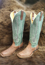 NEW Anderson Bean Chocolate Warthog Cowboy Boot Men's Size 8.5 D
