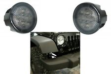 (2) Smoked LED Smoked Front Turn Signal Lights For 2007-2017 Jeep Wrangler New