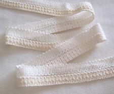 "Rayon/ Cotton Braid Foldover Trim WHITE 1 1/4"" w X 3 Yards Dressy NOS"