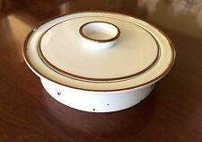 Dansk BROWN MIST 2 Quart Round Casserole blue backstamp