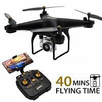 40MINS(20mins + 20mins) Long Flight Time Drone JJRC JJPRO H68 RC Quadcopter with