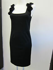 Valentino vestido negro con flores talla L Black cóctel dress viscosa