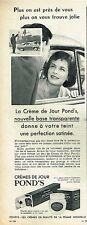 F- Publicité Advertising 1958 Cosmétique crème Pond's