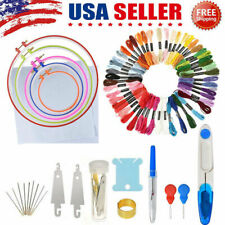 50pcs Embroidery Pen Needle SET Magic Flower Stitch Punch Sewing Tools Craft DIY