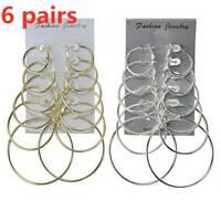 6 Paar Ohrring Set Kreisform Ohrring Frauen Mode Creolen Ohrringe