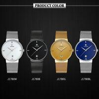 3ATM Water-resistant WWOOR Men's Analog Quartz Wrist Watch Stainless Steel I7P4
