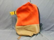Auth Cote&Ciel Black Orange Multi Canvas Backpack
