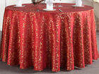 ROUND RECTANGLE POLYESTER TABLE COVER CLOTH TABLECLOTH DINING TABLEWARE