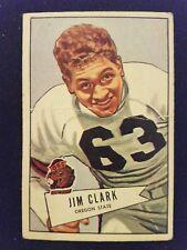 """1952 Bowman """"Small"""" Football Card # 66  James Clark"""