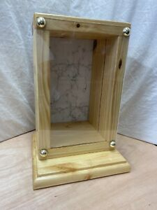 Memorial Wood Display Case Cabinet Trophy Cabinet Taxidermy Case Secure Envlosed