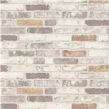 ERISMANN TEXTURED GREY WHITE BRICK WALL PASTE THE WALL VINYL WALLPAPER 6703-11