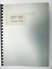 RTW Operating Manual / Service Manual Peakmeter 11520D German/English (9