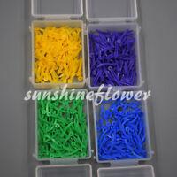 Denture Material Supply 4 Sizes Dental Disposable Teeth Plastic Wedges 400 Pcs