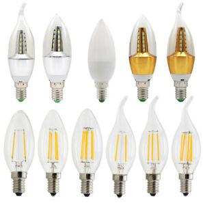 E14 Led Bulbs 2W 3W 4W 5W 6W Candle Tail Lights Chandelier Lamp Day Warm White