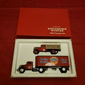 NOS 1990-ERTL-Southern States Limited Edition 1930's Transport Set 1/43- #7628UO