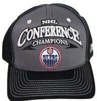 Edmonton Oilers Reebok 5184  06 Conference Champions Adjustable Hockey Cap Hat
