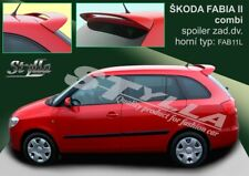 SPOILER REAR ROOF SKODA FABIA 2 II MK2 MKII AVANT ESTATE COMBI WING ACCESSORIES