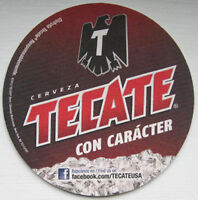 TECATE CERVEZA CON CARACTER Beer COASTER, MAT with BIRD, MEXICO 2012 issue