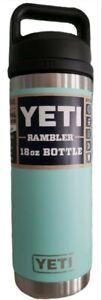 YETI Rambler 18oz Bottle Insulated, Stainless Steel with TripleHaul Cap SEAFOAM