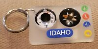 IDAHO STATE SOUVENIR KEYCHAIN LOT OF 20 - VERY COOL - COMPASS & TEMPERATURE