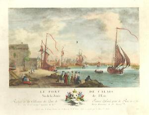 FRANKREICH*CALAIS*LE PORT DE CALAIS*ALTKOL. KUPFERSTICH*1780*