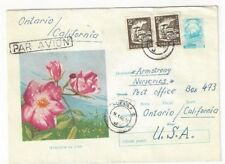 Sibiu Romania Uprated Illustrated Airmail Stationery Entire to Ontario CA