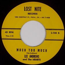 LEE ANDREWS & THE HEARTS: White Cliffs of Dover / Much Too LOST NITE Doo Wop 45