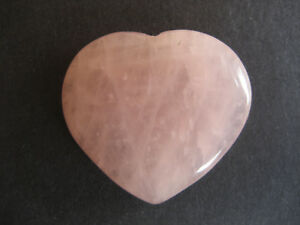 Natural Rose Quartz Love Heart Valentine
