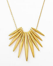 MICHAEL KORS 'Fashion Tribal' Gold-Tone Matchstick Pendant Necklace NIB $145
