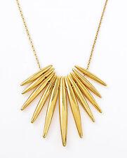 MICHAEL KORS 'Fashion Tribal' Gold-Tone Matchstick Pendant Necklace NIB $145