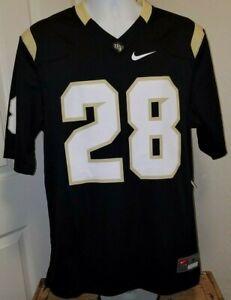 ID#2080 X-LARGE Nike Football Jersey #28 UCF UCFL Knights Black NWT