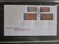 2003 AUSTRALIA ABORIGINAL ART OF PAPUNYA TULU SET 4 STAMPS FDC FIRST DAY COVER